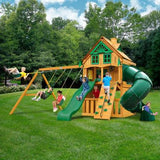 Gorilla Mountaineer Clubhouse Treehouse with Fort Add-On and Amber Posts Cedar Playset