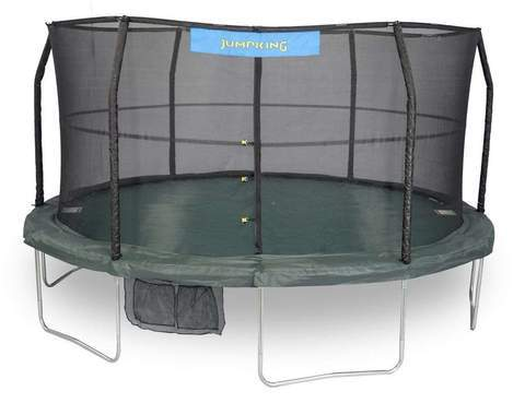 Jumpking 15 Feet Trampoline with 96 Springs With Enclosure, Green/Black | JK1566C2
