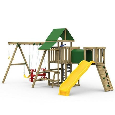 Playstar Varsity Silver Wooden Playset with Air Rider | PS73812