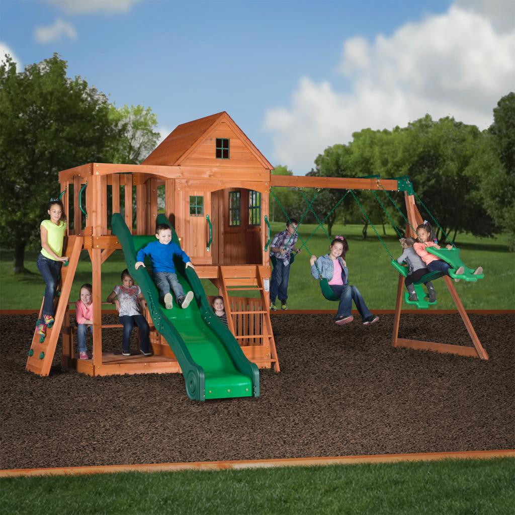 buy backyard discovery pacific view all cedar swing set online