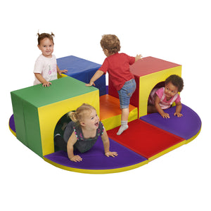 Softzone Triple Tunnel Maze by ECR4Kids