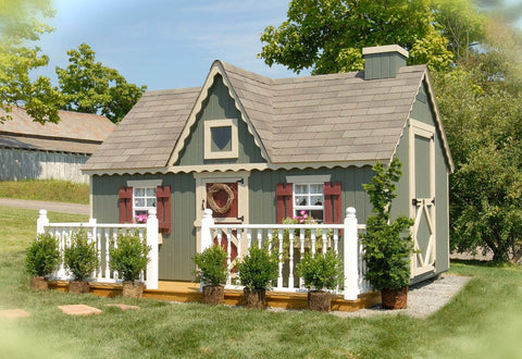 Little Cottage 10 x 12 Feet Victorian Wooden Playhouse