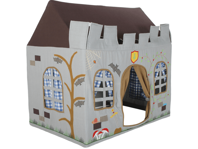 Win Green Handmade Cotton Knight's Castle Playhouse