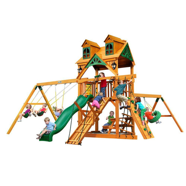 Buy Gorilla Malibu Frontier Swing Set with Amber Posts Now | 01-0075-AP