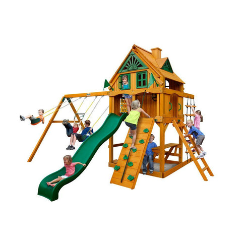 Gorilla Mountain Ridge with Amber Posts Cedar Playset