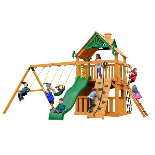 Gorilla Chateau Clubhouse Swing Set with Amber Posts - Buy Online