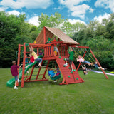 Buy Gorilla Playsets Sun Climber II Wood Swing Set with Brannon Canopy