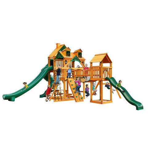 Gorilla Malibu Treasure Trove II with Amber Posts Cedar Playset
