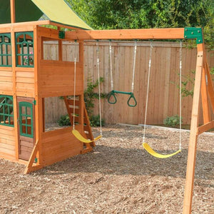 KidKraft TREASURE COVE WOODEN SWING SET / PLAYSET 875257038607