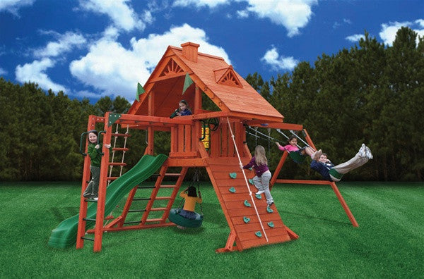 Gorilla Playsets Sun Palace II Play Set and Swingset with Monkeybars
