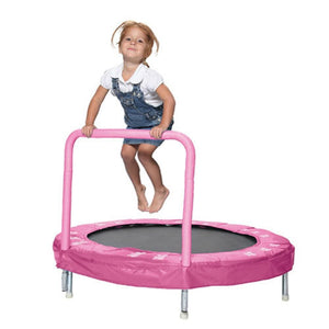 "JumKing 48"" Bouncer with Handrail, Pink Butterfly"