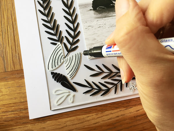 Creative Marker Art and Beyond - Glass Project