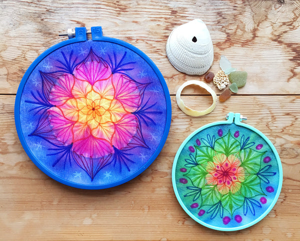 Creative Marker Art and Beyond - Mandala Hoops