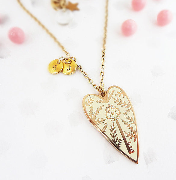 You Hold the Key Personalised Necklace - Gold