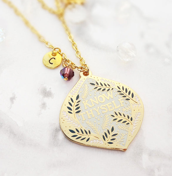 Know Thyself Personalised Pendant - Gold