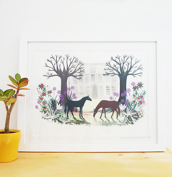 Grazing Original Framed Painting