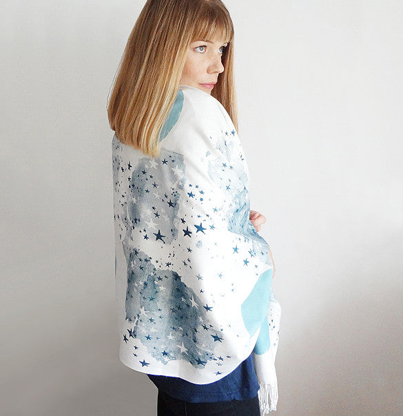 Milky Way Scarf - Navy