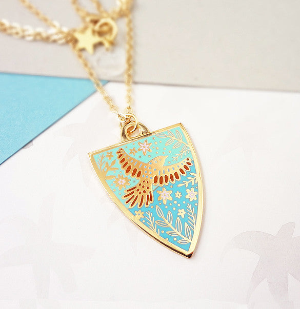 Spring Personalised Pendant - Gold