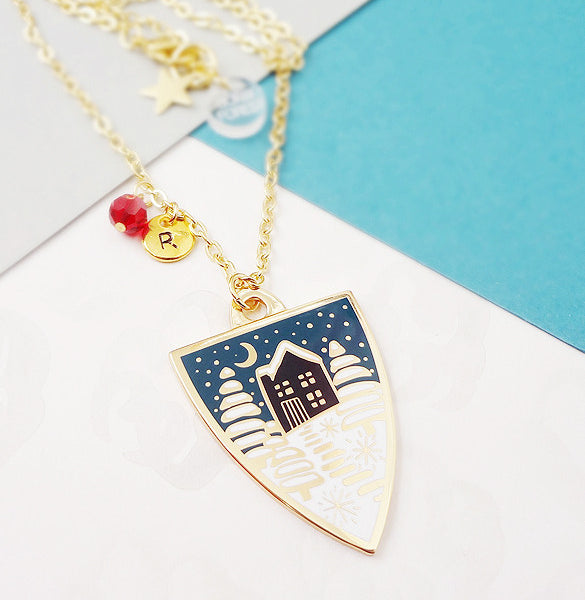 Winter Personalised Pendant - Gold