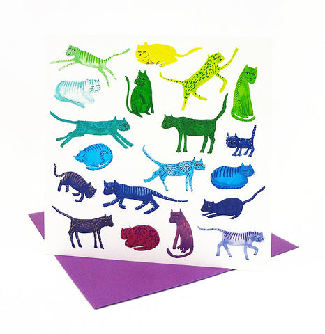 *NEW!* Rainbow Cats Card