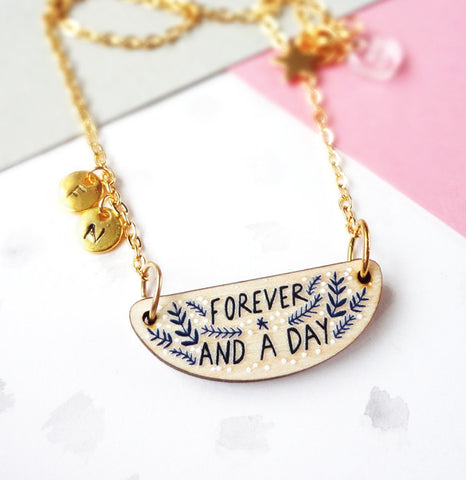Forever Personalised Necklace - Gold