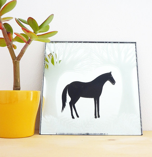 Woodland Horse Original Mirror Artwork