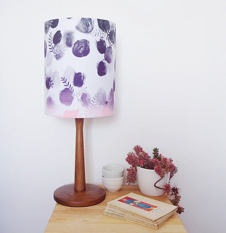 Limited Edition Ombré Paint Spots Lampshade - Plum