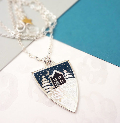 Winter Personalised Pendant - Silver