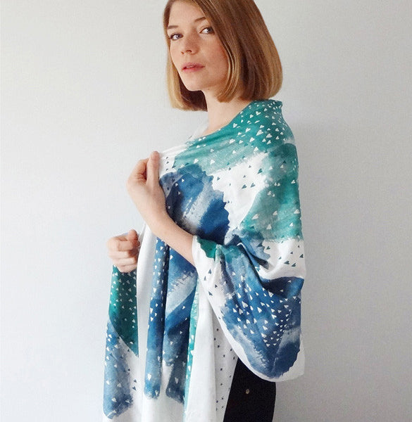 Little Lovers Scarf - Blue