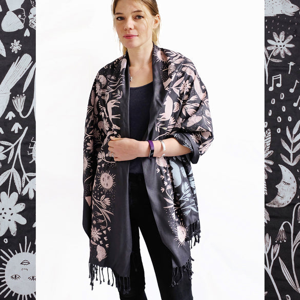 LIMITED EDITION Beauty Full Scarf - Charcoal