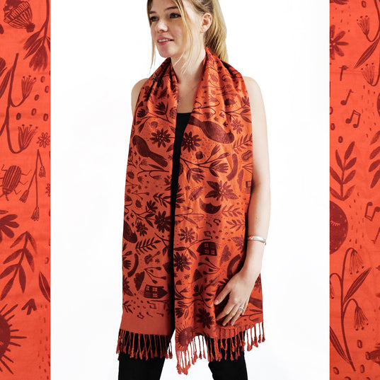 LIMITED EDITION Beauty Full Scarf - Terracotta