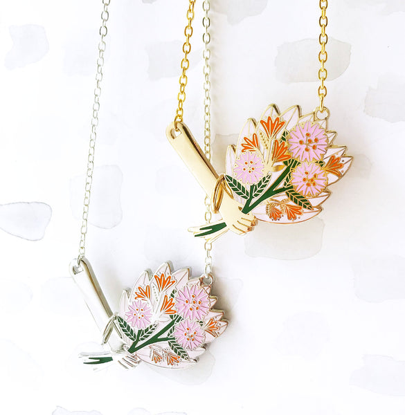 LIMITED EDITION Floral Bouquet Necklace - Pink