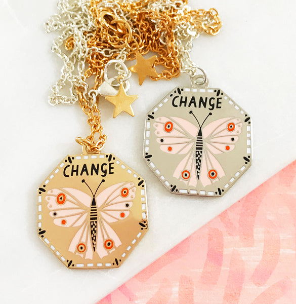 Change Enamel Necklace