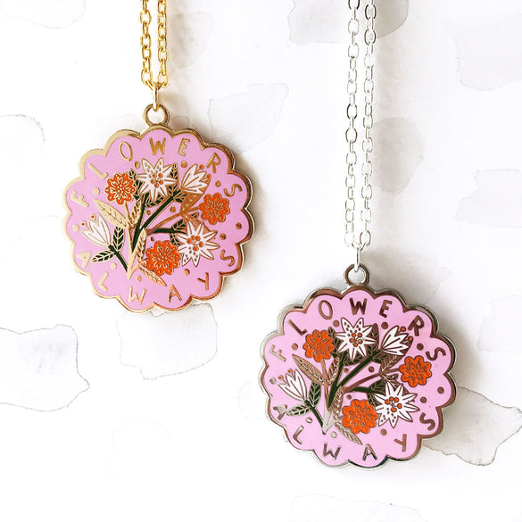 LIMITED EDITION Flowers Always Pendant - Pink