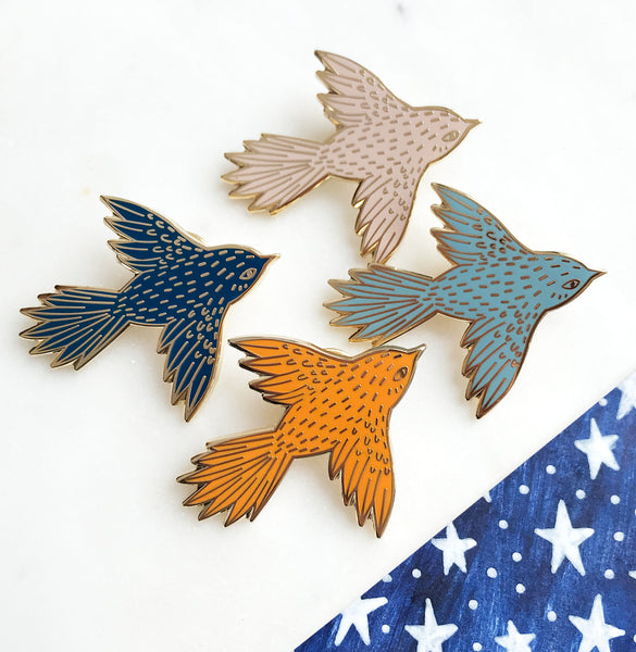 **NEW!** Flying Bird Hard Enamel Pin
