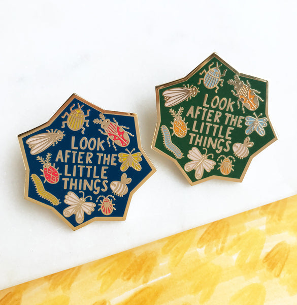 **NEW!** Look After the Little Things Enamel Pin