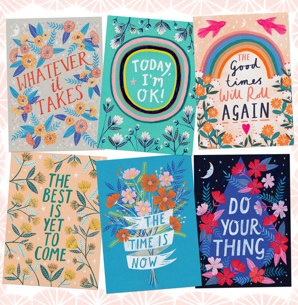 Happy and Positive Quotes Postcard Set
