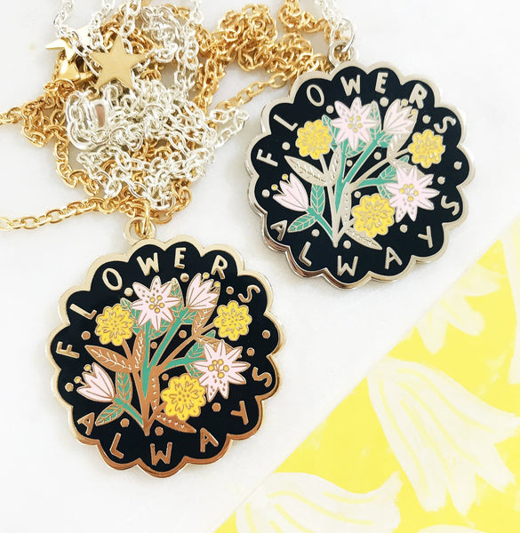 LIMITED EDITION Flowers Always Pendant - Dark
