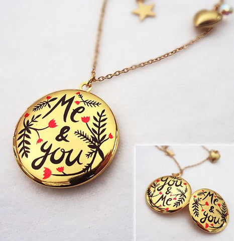 Me and You, You and Me Double Sided Locket - 2012