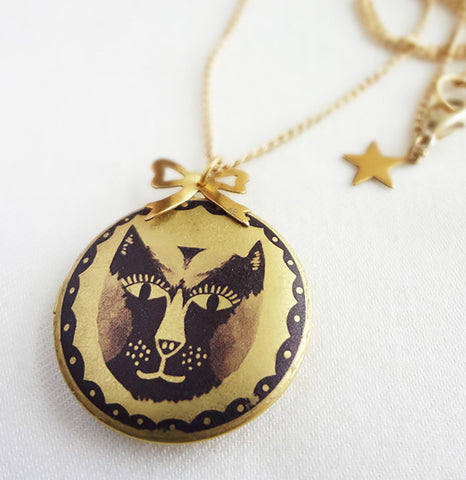 Cat Face Locket - 2011