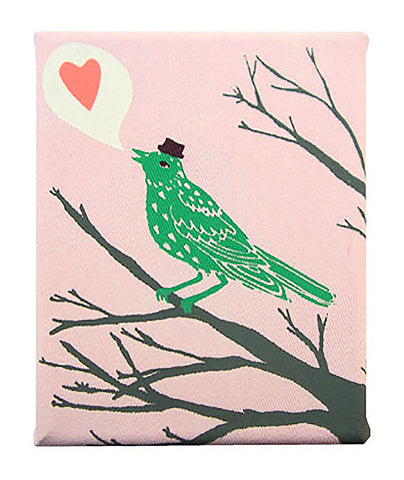 Lovebirds Heart Art Canvas - 2008