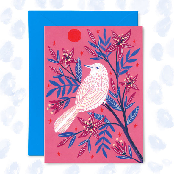 **NEW!** 'White Bird, Red Sun' Greetings Card