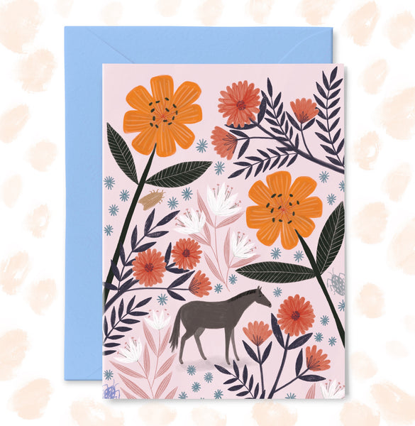Tiny Horse Greetings Card