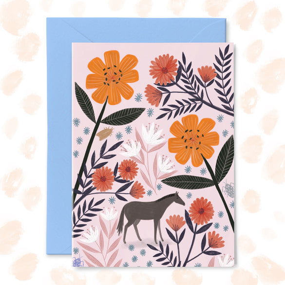 **NEW!** 'Tiny Horse' Greetings Card