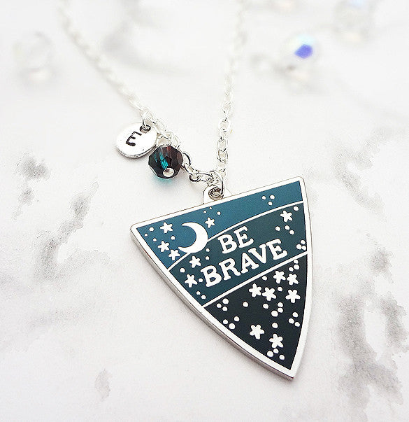 Be Brave Personalised Pendant - Silver