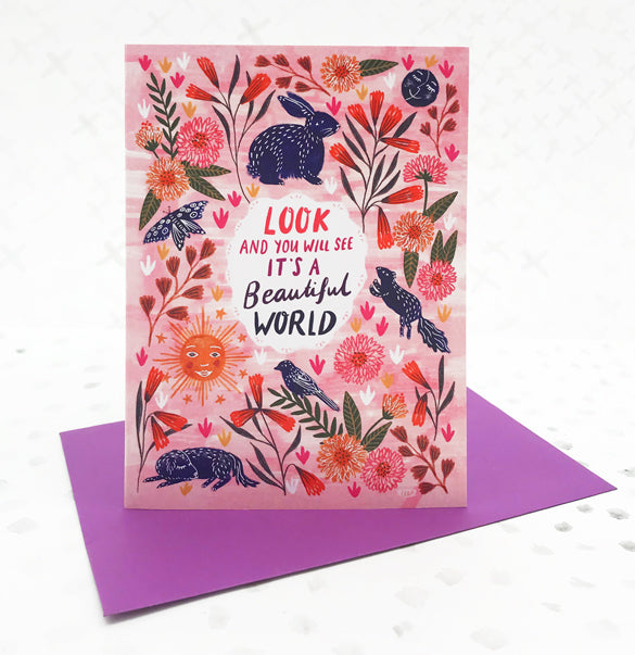 Beautiful World Greetings Card