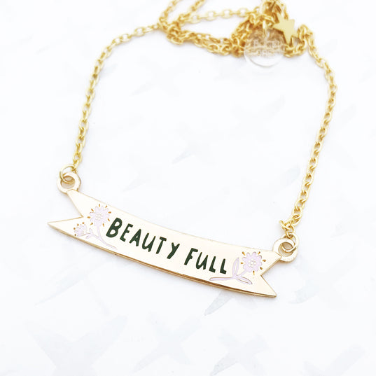 LIMITED EDITION Beauty Full Banner Necklace - Gold