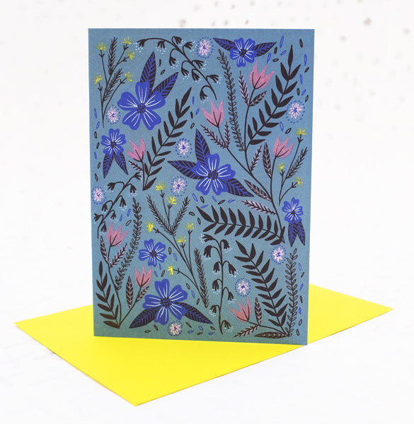 Dusk Garden Greetings Card