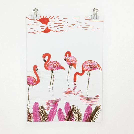 **NEW!** 100 Day Project Flamingos Poster
