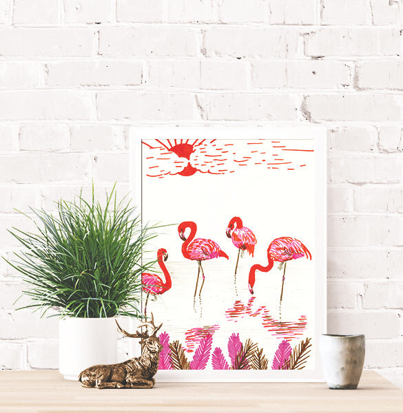100 Day Project Flamingos Poster